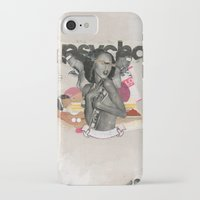 psycho iPhone & iPod Cases featuring Psycho by Molokid