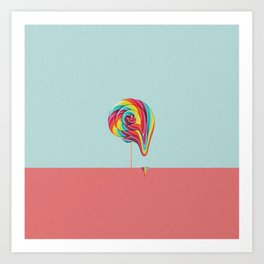 Lollipop fall Art Print