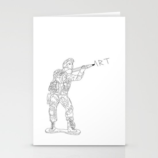 Military Art Stationery Cards