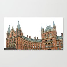 saint pancras london architecture landmark monument Canvas Print