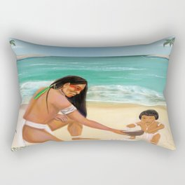 Father and Son Rectangular Pillow