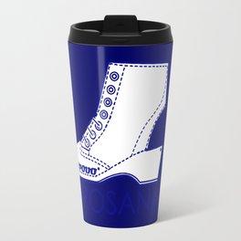 Borosana Borovo -  white nostalgic ortopedic shoe from Yugoslavia Travel Mug