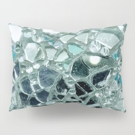 Icy Blue Mirror and Glass Mosaic Pillow Sham