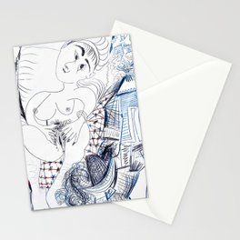 Pablo Picasso - Fauna, naked woman and musketeer - Digital Remastered Edition Stationery Cards
