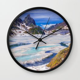 Frozen Landscape Wall Clock