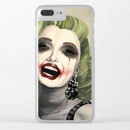 Marilyn x Joker Clear iPhone Case