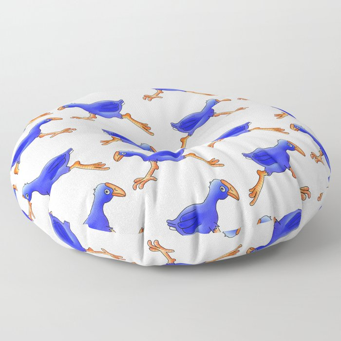 Running Pukeko - Swamp hen Floor Pillow