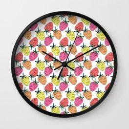 Strawberry mix Wall Clock