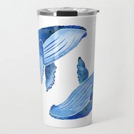 Humpback Whale   Ocean Blue Travel Mug