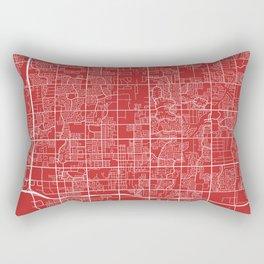 Chandler Map, USA - Red Rectangular Pillow