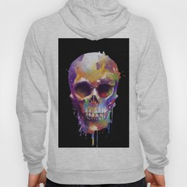 colorful skull black Hoody
