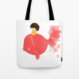 The Gold Fish Tote Bag