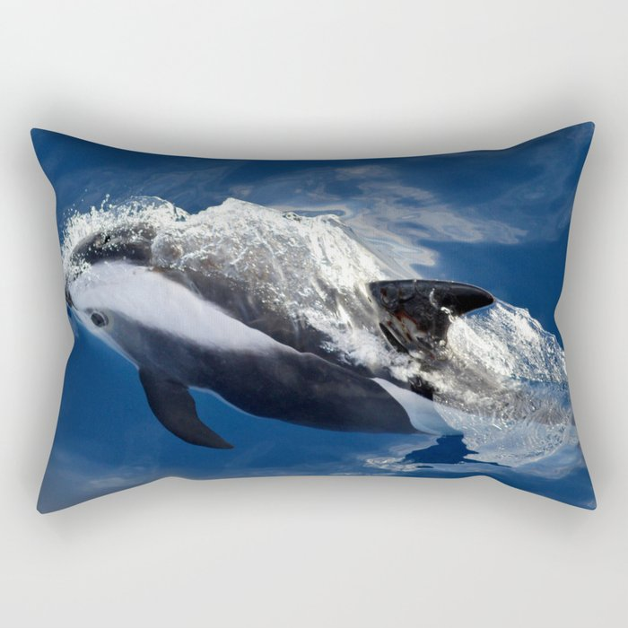Hourglass Dolphin, Too Rectangular Pillow