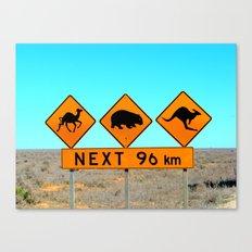 Nullarbor roadsign Canvas Print