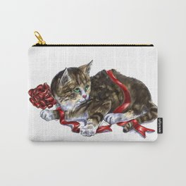 Holiday Kitten Carry-All Pouch