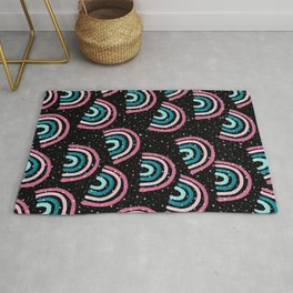 Cosmic Rainbow Night Dream Pattern #1 (Kids Collection) #decor #art #society6 Rug