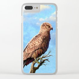 Brown Snake Eagle Clear iPhone Case