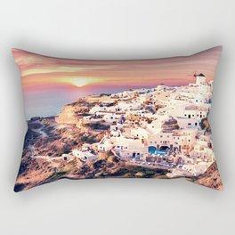 Santorini Sunset View Rectangular Pillow