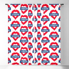 London Underground - Heart Blackout Curtain