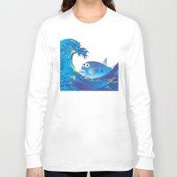 hokusai Long Sleeve T-shirts featuring Hokusai Rainbow & Globefish  by FACTORIE
