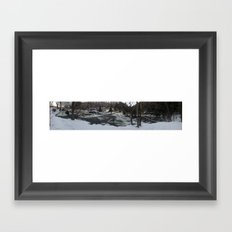 winter falls Framed Art Print