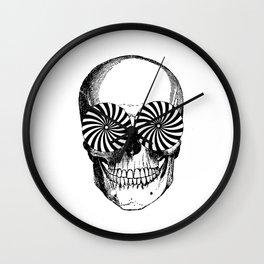 Black & White - Optical Skull Wall Clock