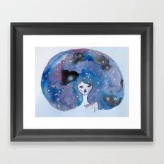 Galaxy Brain  Framed Art Print