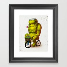 Bike Monster 1 Framed Art Print