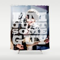 glee Shower Curtains featuring I'm Just Some Guy by kltj11