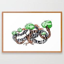 Tree Serpents Framed Art Print