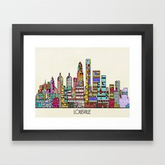 Louisville city  Framed Art Print