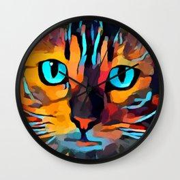 Cat 10 Wall Clock