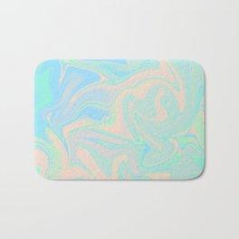 Faux Holographic Iridescent Texture Bath Mat