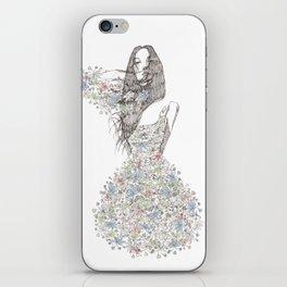 Flower Girl - pattern iPhone Skin