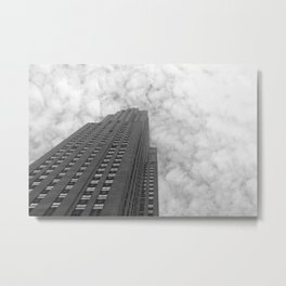From the Bottom Up (Black & White) Metal Print