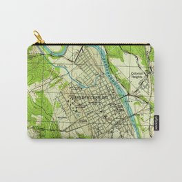 Vintage Map of Fredericksburg Virginia (1944) Carry-All Pouch