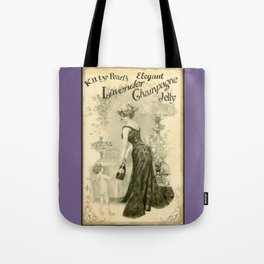 Kitty Pearl's Elegant Lavender Champagne Jelly Tote Bag
