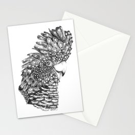 Black Cockatoo Portrait pen and ink Stationery Cards