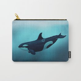 """Lost in Serenity"" by Amber Marine ~ Orca / Killer Whale Art, (Copyright 2015) Carry-All Pouch"