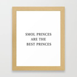 Smol Bookish YA Princes White Framed Art Print