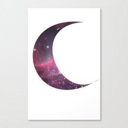 cosmic crescent moon Canvas Print