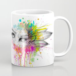 Beautiful Flower Eyes Coffee Mug