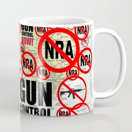 No Guns, Gun Control Now on Map Coffee Mug