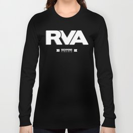 "Rva Logo - White | "" Striped Outline "" Long Sleeve T-shirt"