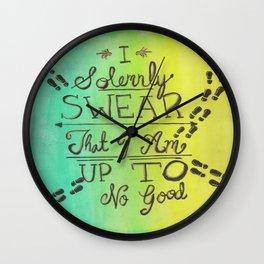 Solemnly Swear Wall Clock