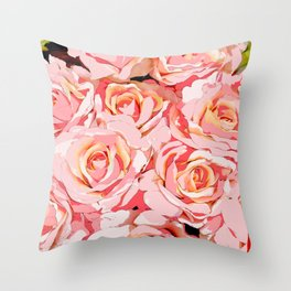 ROSES SO PINK AND SHABBY CHIC Throw Pillow