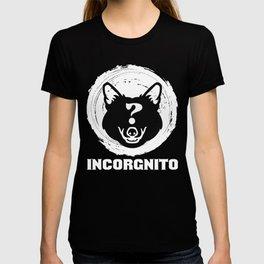 Incorgnito design Funny Vintage Corgi Lover Dog Pun Gift T-shirt