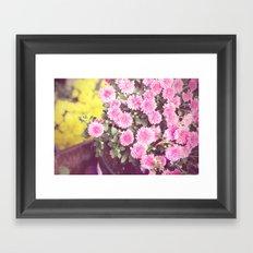 Vintage - Flower Pots Framed Art Print