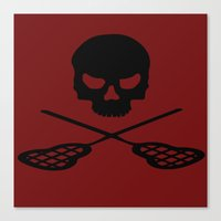 lacrosse Canvas Prints featuring Lacrosse by Beastie Toyz