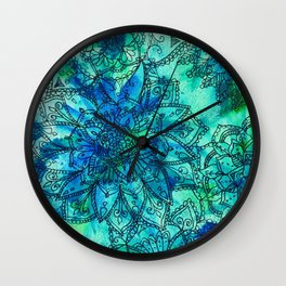 Blue is the Colour of Calm. Wall Clock